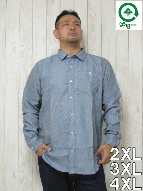 (大きいサイズ メンズ 通販 デビルーズ)LRG(エルアールジー)「SOLACE」長袖シャツ