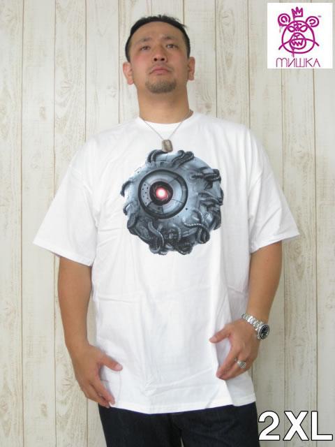 (大きいサイズ メンズ 通販 デビルーズ)MISHKA(ミシカ)「MECHA KEEP WATCH」TEE
