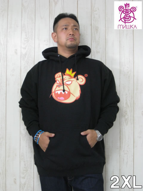 (大きいサイズ メンズ 通販 デビルーズ)MISHKA(ミシカ)「KING BEAR」HOODY