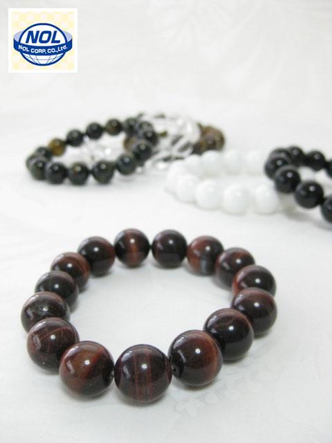 NOL(ノル)パワーストーン数珠 ブレスレット(14MM)「ギフトボックス入り」<定番人気>