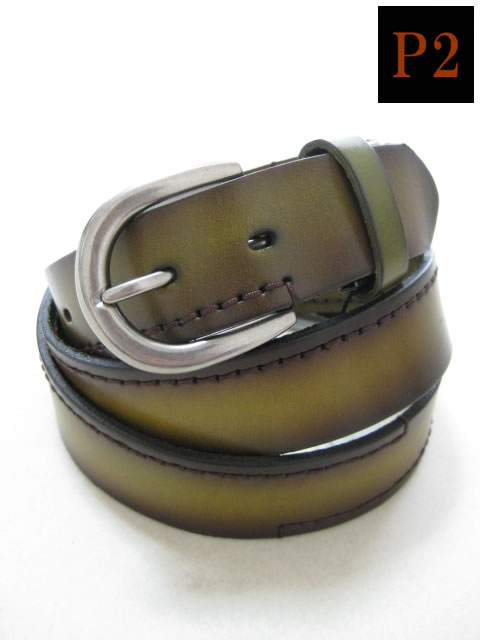 (大きいサイズ メンズ 通販 デビルーズ)P2(ピーツー)本革 ロングサイズ ステッチベルト