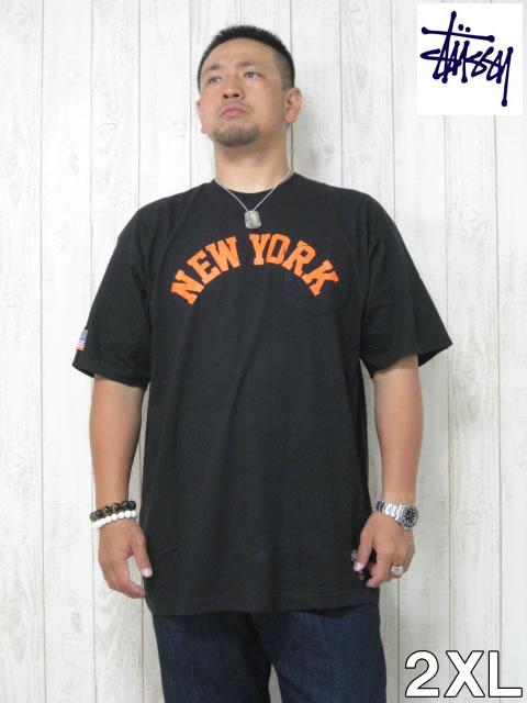 (大きいサイズ メンズ 通販 デビルーズ)STUSSY(ステューシー)「NEW YORK」TEE