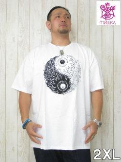 (大きいサイズ メンズ 通販 デビルーズ) MISHKA(ミシカ)「BALANCED KEEP WATCH」TEE