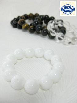 NOL(ノル)パワーストーン数珠 ブレスレット(16MM)「ギフトボックス入り!」<定番人気>
