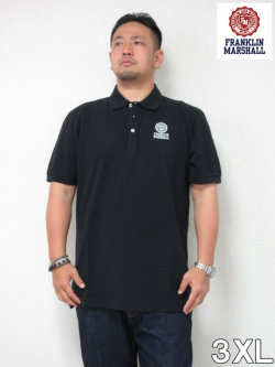 (大きいサイズ メンズ 通販 デビルーズ)FRANKLIN&MARSHALL「FM」半袖ポロシャツ