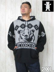 (大きいサイズ メンズ 通販 デビルーズ)GRIZZLY(グリズリー)「ROCKY MOUNTAIN」フード付セーター