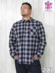 (大きいサイズ メンズ 通販 デビルーズ)MISHKA(ミシカ)「BOX CHECK」長袖ネルシャツ