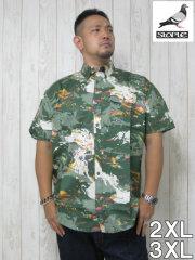 (大きいサイズ メンズ 通販 デビルーズ)STAPLE(ステイプル)「MILITARY」半袖シャツ