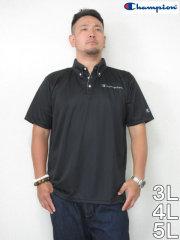 (大きいサイズ メンズ 通販 デビルーズ)Champion(チャンピオン)「LOGO」ドライ半袖ポロシャツ