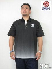 (大きいサイズ メンズ 通販 デビルーズ)FRANKLIN&MARSHALL グラデーション半袖ポロシャツ