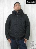 (大きいサイズ メンズ 通販 デビルーズ)Amorte(アモルテ)へリボン 中綿ジャケット