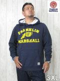 (大きいサイズ メンズ 通販 デビルーズ)FRANKLIN&MARSHALL「FOOT WING」HOODY