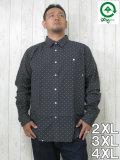 (大きいサイズ メンズ 通販 デビルーズ)LRG(エルアールジー)「FRACTURED LS DOT」長袖シャツ