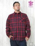 (大きいサイズ メンズ 通販 デビルーズ)MISHKA(ミシカ)「SMALL CHECK」長袖ネルシャツ