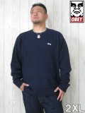 (大きいサイズ メンズ 通販 デビルーズ)OBEY(オベイ)「CAMDEN」セーター