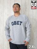 (大きいサイズ メンズ 通販 デビルーズ)OBEY(オベイ)「ACADEMY」スウェットシャツ