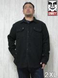 (大きいサイズ メンズ 通販 デビルーズ)OBEY(オベイ)「THE JACK」シャツジャケット