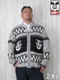 (大きいサイズ メンズ 通販 デビルーズ)OBEY(オベイ)「CREEPER」フルZIPセーター