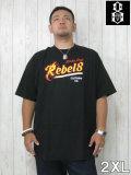 (大きいサイズ メンズ 通販 デビルーズ)REBEL8(レベルエイト)「STRIKE FIRST」TEE
