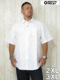 (大きいサイズ メンズ 通販 デビルーズ)SOUTHPOLE(サウスポール)オックスフォード半袖シャツ