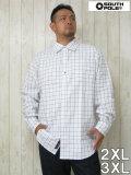 (大きいサイズ メンズ 通販 デビルーズ)SP(サウスポール)ウィンドペンチェック  長袖シャツ