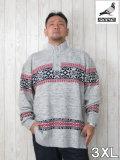 (大きいサイズ メンズ 通販 デビルーズ)STAPLE(ステイプル)「FAIRISLE」モックネックセーター