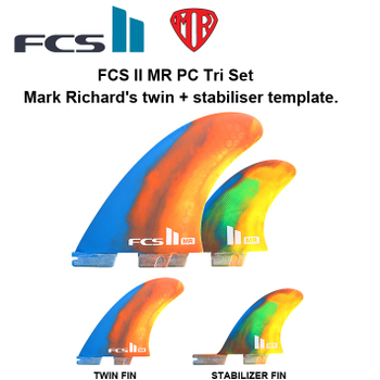 FCS2 フィン MR PC Tri Set  MR's twin + stabiliser template  THE TWINに最適!