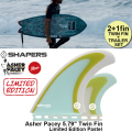 "【SHAPERS FIN】Asher Pacey: 5.79"" Twin Fin + optional trailer fin FUTURE Limited Edition Pastel アッシャー・ペイシーツインフィン 2+1 送料無料[shapers-fin114]"