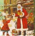 ペーパーナプキン*Santa with Child