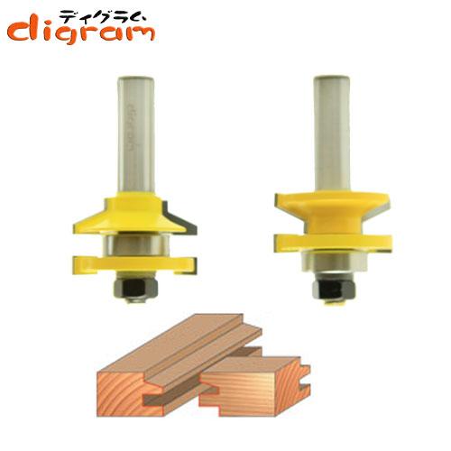 ルーター ビット レール & スタイル セット ( ベベル15° ) 1/2軸 Microtungsten carbide 【dm06004 】