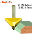 ルーター ビット 角面 45度 特大 1/2軸 ( 刃径 53mm ) Microtungsten carbide 【dm09502】