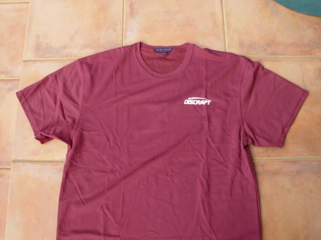 DISCRAFT ドライTシャツ(バックプリント付)