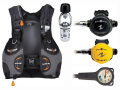 AQUALUNG(アクアラング) ウェーブBC&カリプソ持ち運びラクラク旅行用重器材セット ネットだけの大特価!