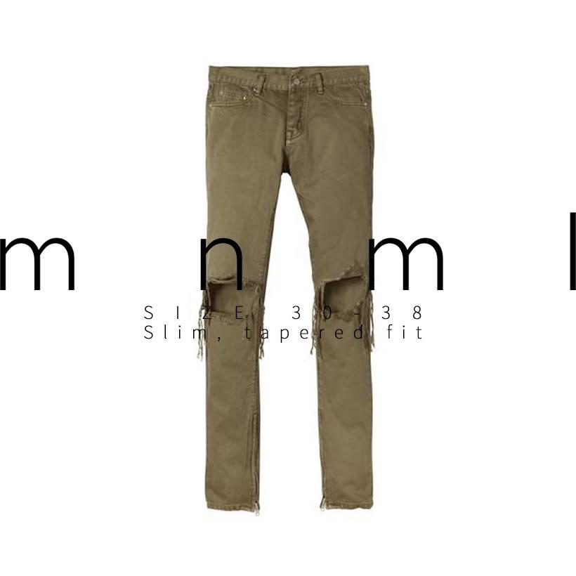 mnml ミニマル スキニー ジーンズ デニムパンツ メンズ ダメージ加工 サイド 裾ジップ M2016-P150 ストリート系 hiphop ヒップホップ ファッション 通販 MLDT006