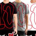 BASS BY RONBASS (バスバイロンバス) 半袖Tシャツ メンズ BIG LOVE TEE B13024 BRTT003
