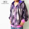 CLH【シーエルエイチ】フード付きナイロンジャケット STYLE:CE-40FO ●カラー:パープル(紫色) ★HIPHOP/B系アイテム