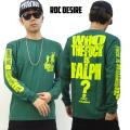 ROC DESIRE ロックデザイア 長袖 Tシャツ パロディー B系 ファッション ストリート系 RDT017