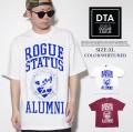 ROGUESTATUS(ログステイタス)半袖Tシャツ/レッド・ホワイト/201023
