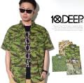 10DEEP 10ディープ 半袖 シャツ 迷彩 22TD3201 tdo017