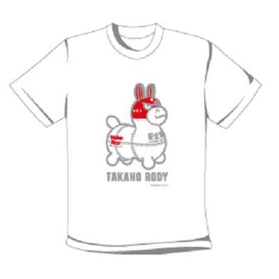 鷹の爪 タカノロディTシャツ(ロゴ) (ホワイト)
