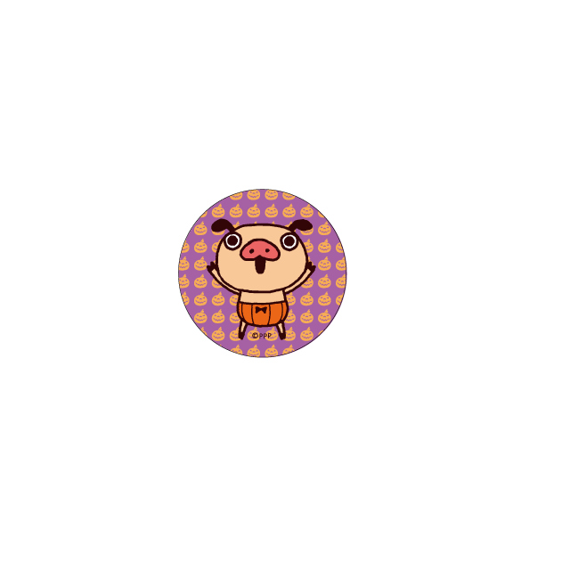 パンパカパンツ 缶バッジ(ハロウィン かぼちゃパンツ)