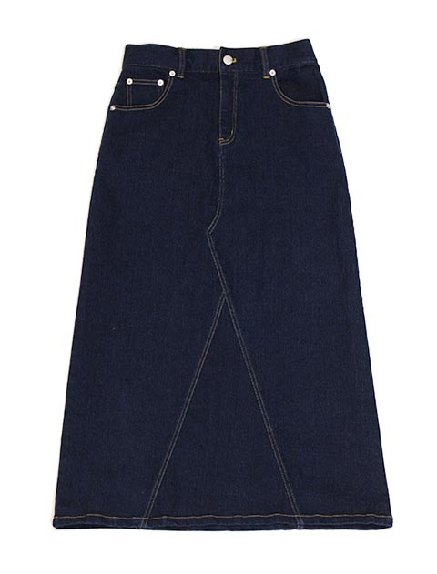【WOMEN】ストレッチデニムロングスカート