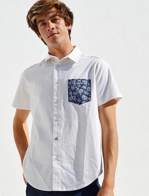 【UNISEX】ペイズリー半袖シャツ