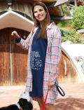 【WOMEN】ヴィンテージチェックロングシャツ