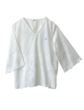 【WOMEN】スカラップレースシャツ