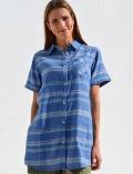 【WOMEN】ネイティブボーダーシャツ