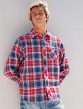 【3/31販売終了】【UNISEX】Wガーゼリバーシブルシャツ