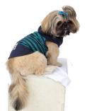 【3/31販売終了】【DOG WEAR】バンダナボーダーボタンパーカー