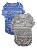 【3/31販売終了】【DOG WEAR】ジャガードプリントTシャツ