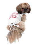 【DOG WEAR】ボーダー裾リボン